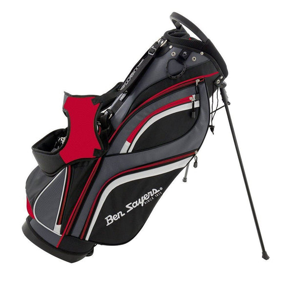 Ben Sayers Deluxe Golf Stand Bag New Model - Red