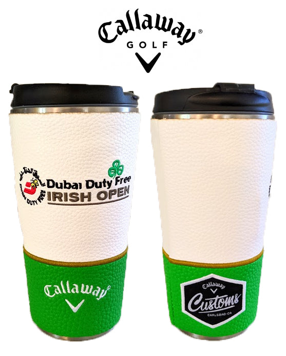New Callaway Tour Issue Customs Irish Open Golf Travel Coffee Cup Mug Metal BUY 1 GET 1 FREE