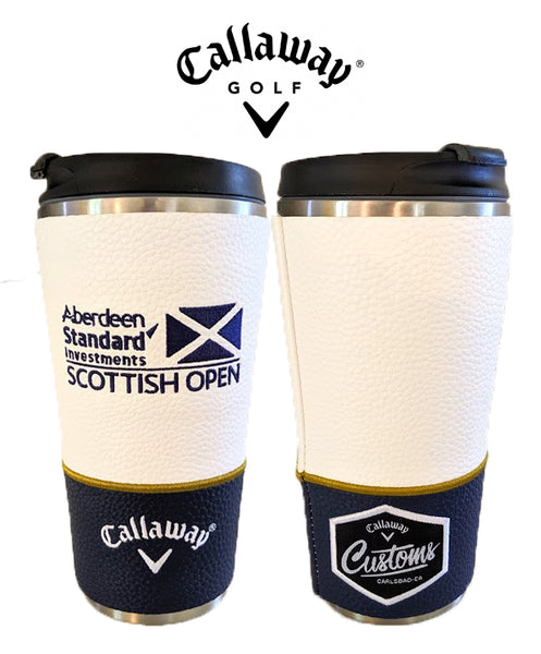 New Callaway Tour Issue Customs Scottish Open Golf Travel Coffee Cup Mug Metal