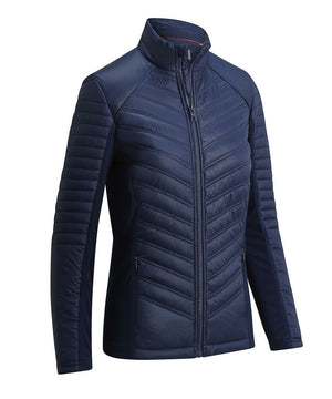 CALLAWAY LADIES MIXED MEDIA PUFFER JACKET BLACK