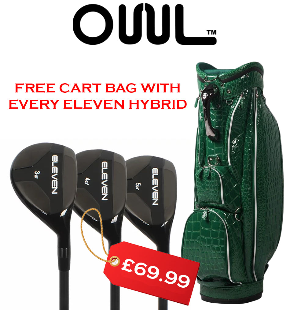 Eleven Hybrid Single Hybrid Rescue Irons 3,4,5 FREE Ouul Cart Bag
