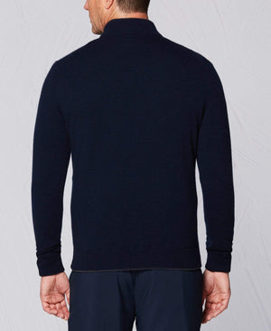 New Tour Authentic 1/4 Zip Cashmere Windstopper Peacoat Navy
