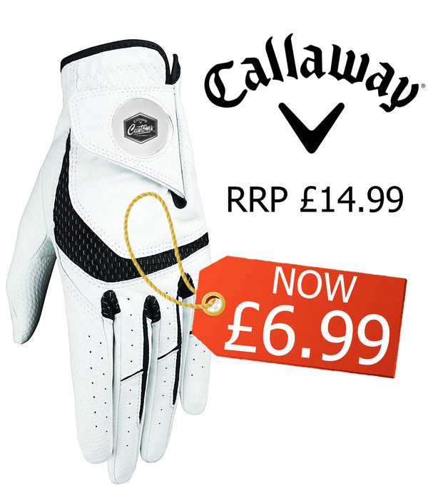 Callaway Golf 2019 Mens SynTech Premium All-Weather Right Hand Golf Glove (For Left handed Golfer)