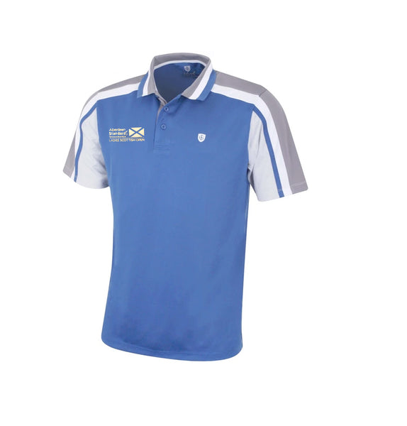 Island Green Mens Breathable Quick Drying Stylish Pique Golf Polo Blue With logo