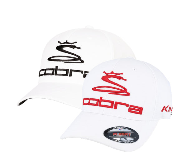 New Cobra Golf Pro Tour Logo Cap Size  White - Black