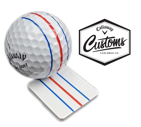 New Callaway Golf Tour Issue Customs Triple Track Ball Marker Metal Alignment