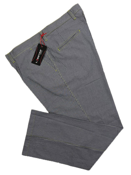 Lobster Tour Elton Pin Stripe Golf Trousers Grey/White