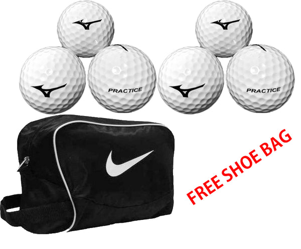 Mizuno Golf Tour Practice Balls 1 dozen FREE Nike Brasilia Sports Shoe Bag/ Accessory Bag