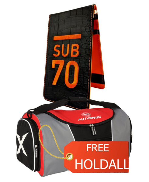 Limited Edition Sub70 Tour Flip Scorecard Holder Black/Orange FREE HOLDALL
