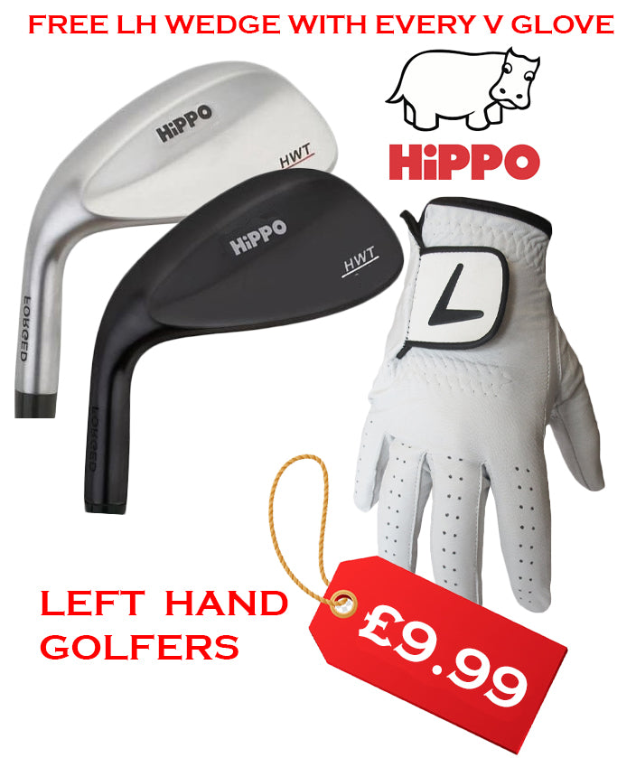 V Leather Glove FREE HiPPO Golf HWT Forged 56 Degree Wedge Left Hand Golfers