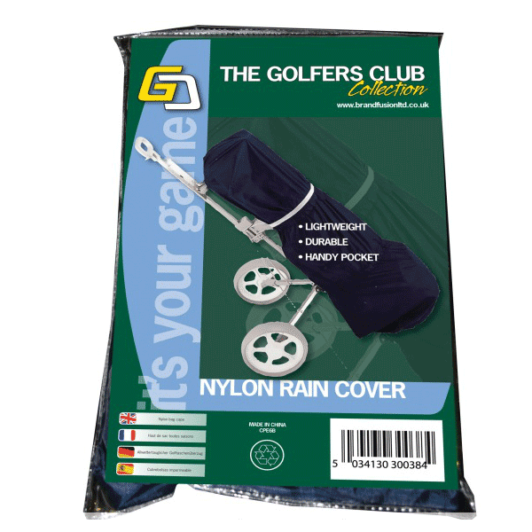 Golfers Club Nylon Rain Cover With Pocket