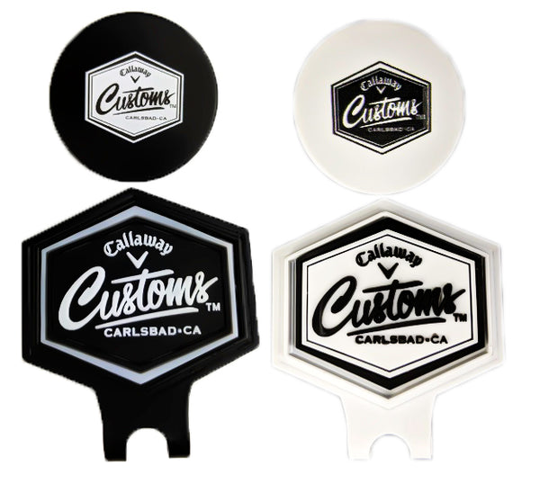 New 2019 Callaway Golf Tour Issue Customs Hat Cap Clip Ball Marker - Free Pouch
