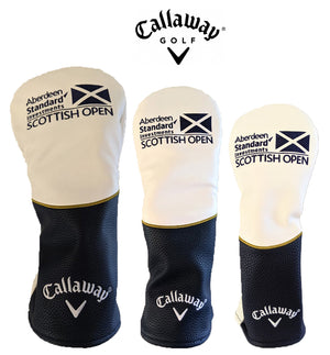 New Callaway Golf Tour Customs Scottish open Headcover White-Navy