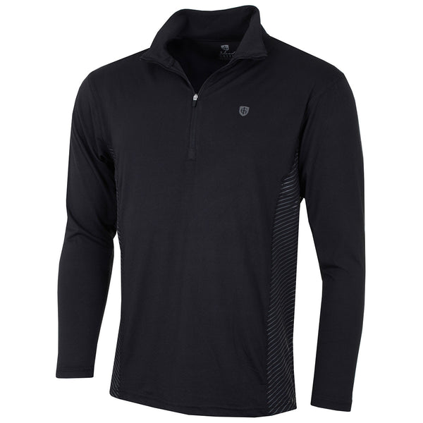 LUCKY DIP Island Green Mens 1/2 Zip  Breathable UltraLight Golf Base Layer