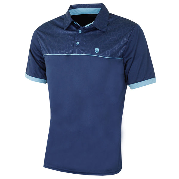 Island Green Embossed Pattern Coolpass Polo Shirt IGTS1656