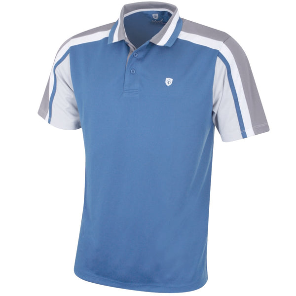 Island Green Mens Breathable Quick Drying Stylish Pique Golf Polo