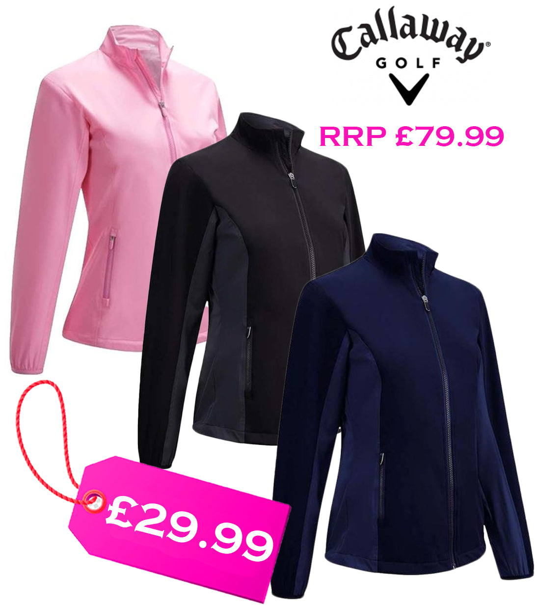 Callaway Ladies Long Sleeve Two Tone Wind Jacket