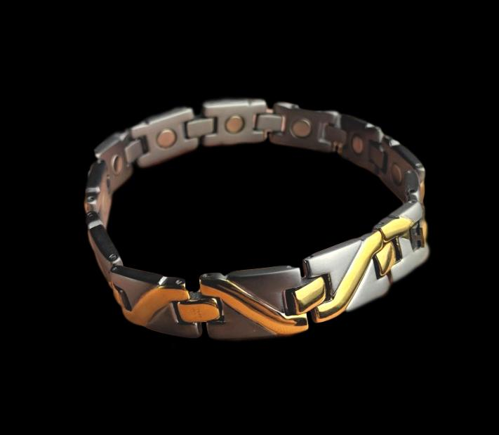 Magnetic Bracelet Gold and Silver