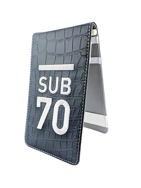Limited Edition Sub70 Tour Flip Scorecard Holder Navy/Silver