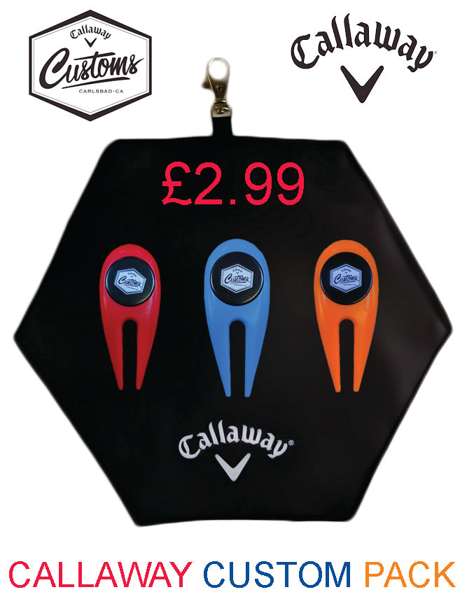 2020 Callaway Golf accessory Pouch With 3 Divot tools and ball markers + 25 tees