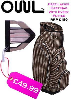 Ladies Optimizer Putter 3-D prism Technology 32 Inch - Hole more putts  FREE £180 OUUL Cart Bag