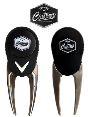 2019 Callaway Golf Tour Issue Customs Pitchfork Divot Tool - Free Pouch Buy 1 Get 1 Free