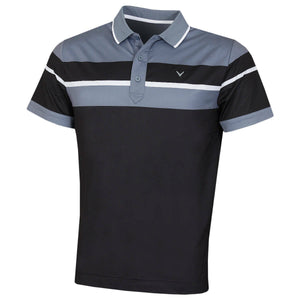 Callaway Golf Mens Chest Block Stretch Wicking Golf Polo Shirt cgksa023