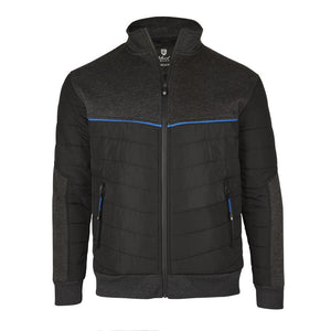 Island Green Zip Through Thermal Quilted Jacket