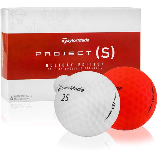 TaylorMade Project (s) Holiday Golf Balls  1 Dozen - 2 x 6 ball Packs