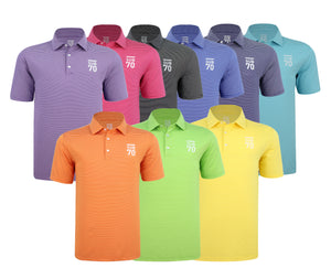 New 2019 SUB70 Tour Thin Stripe 2.0 Golf Polo Shirt Multi Stretch UPF 30+ FREE HOLDALL