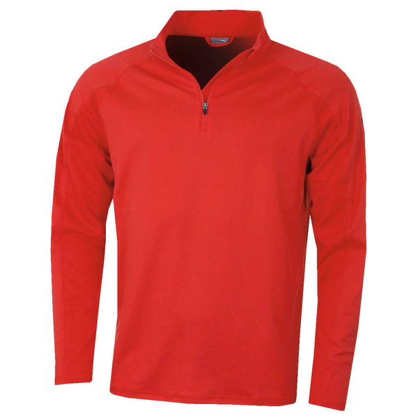 Puma Golf Mens Core 1/4 Zip Cresting Long Sleeve Fleece Popover 572366