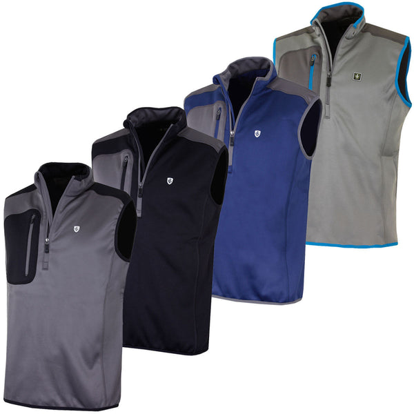 Island Green 1/2 Zip Sleeveless Bonded Fleece