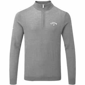 CALLAWAY GOLF MENS 1/4 ZIP BLENDED MERINO THERMAL PULLOVER GOLF SWEATER