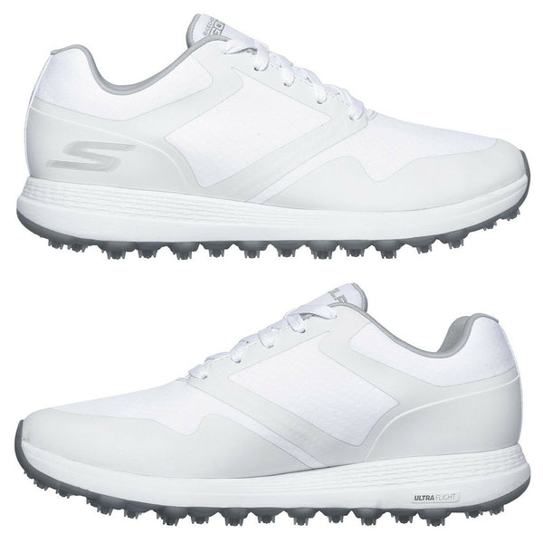 Ladies Skechers  Go Golf Max Fade Spikeless Shoes White/grey