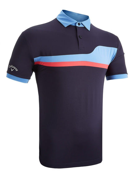 Callaway Golf Tour Mens Asymmetric Colour Block Polo Shirt CGKS8082