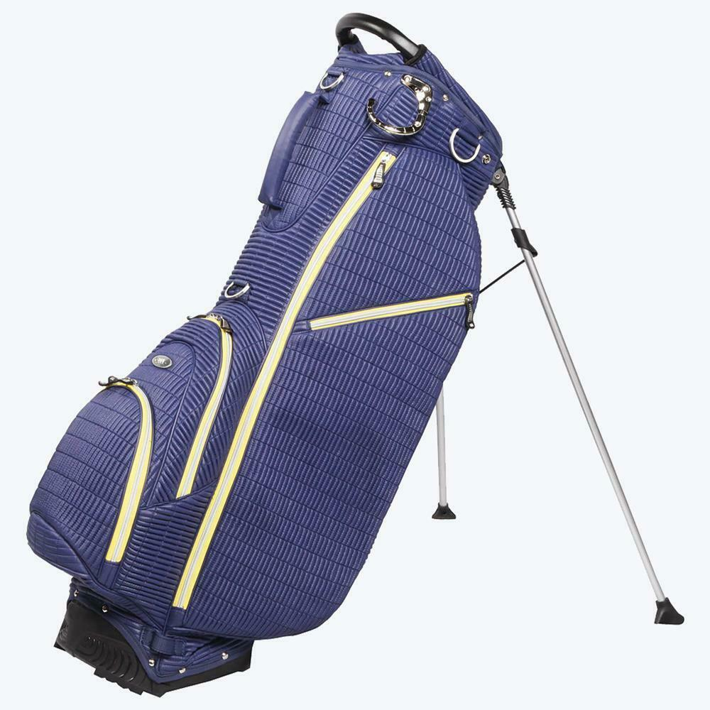 New Ouul Ribbed Golf Stand Carry Bag -NAVY Single Strap 6 pockets