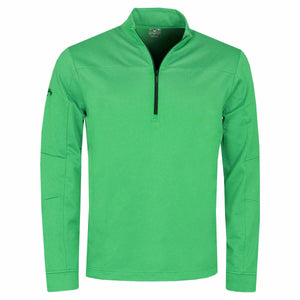 Callaway Golf Mens Pieced Waffle 1/4 Zip Pullover Golf Sweater irish green