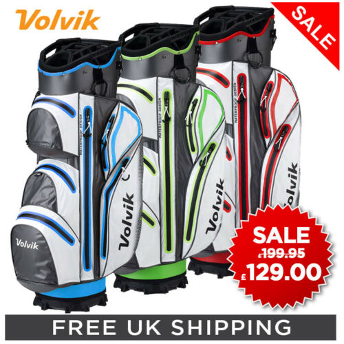 VOLVIK New 2019 Vibe Waterproof Golf Trolley Cart Bag 14 Way Divider 9 Pockets