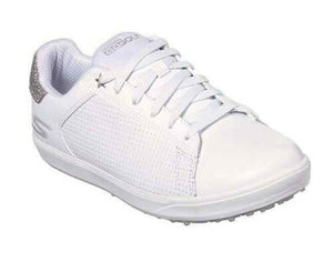 Skechers Ladies Go Golf Drive Shimmer Spikeless Waterproof Womens Shoes White