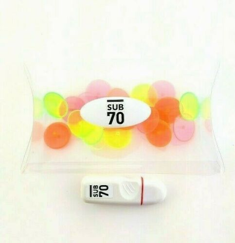 New Sub70 Golf Gift Pack 20 Neon Ball Markers 1x Ball Marker Pen Red Fine Tip