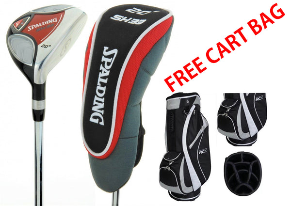 Spalding Golf Tour SH 23 Degree Hybrid Club high launch regular FREE CART BAG