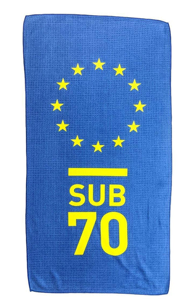 Sub70 Golf Tour Microfibre Bag Towel Limited Edition Team Europe Ryder Cup Style