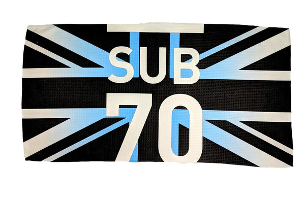 Sub70 2018 Golf Tour Union Jack Large Microfibre Bag Towel Limited Edition New