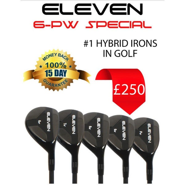 ELEVEN Golf HS Hybrid Golf Iron Set  6-PW