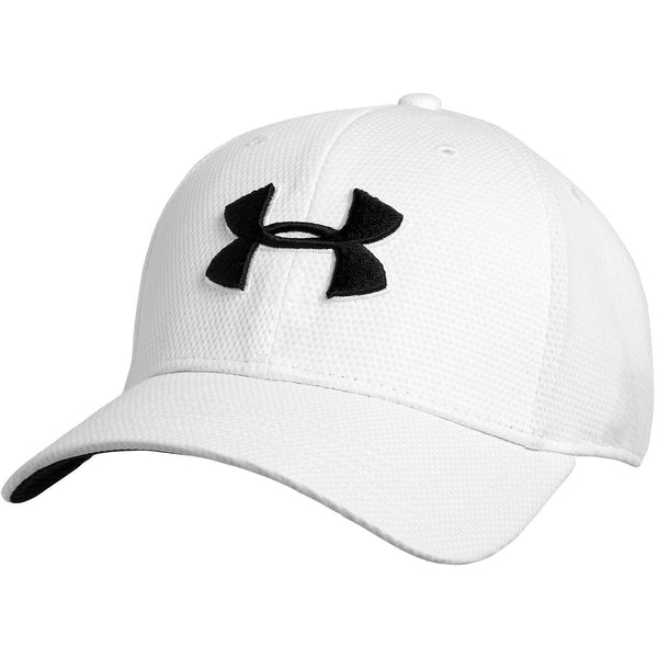 Under Armour Mens Blitzing II Stretch Fit Cap - UA Golf Baseball Cap White