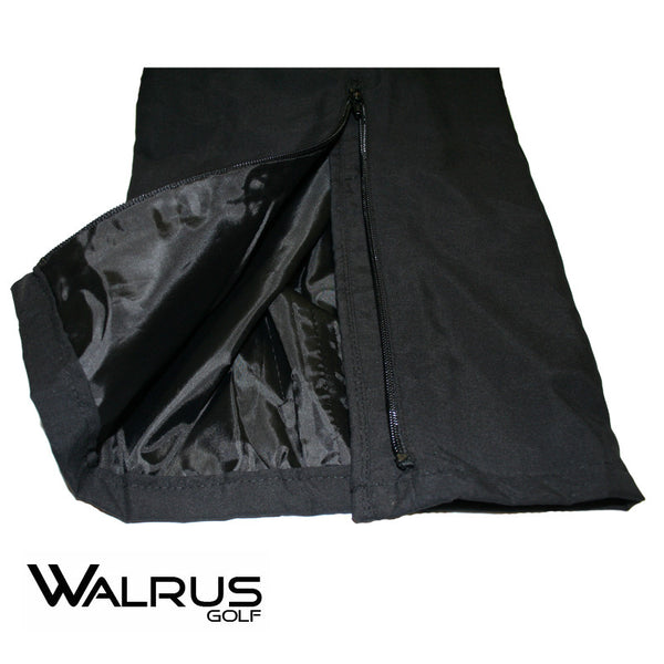 New Walrus Golf Storm Waterproof Golf Trousers - Zip Leg Detail