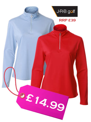 JRB WOMEN'S GOLF - 1/4 ZIPPED TOPS- FREE Bobble Hat