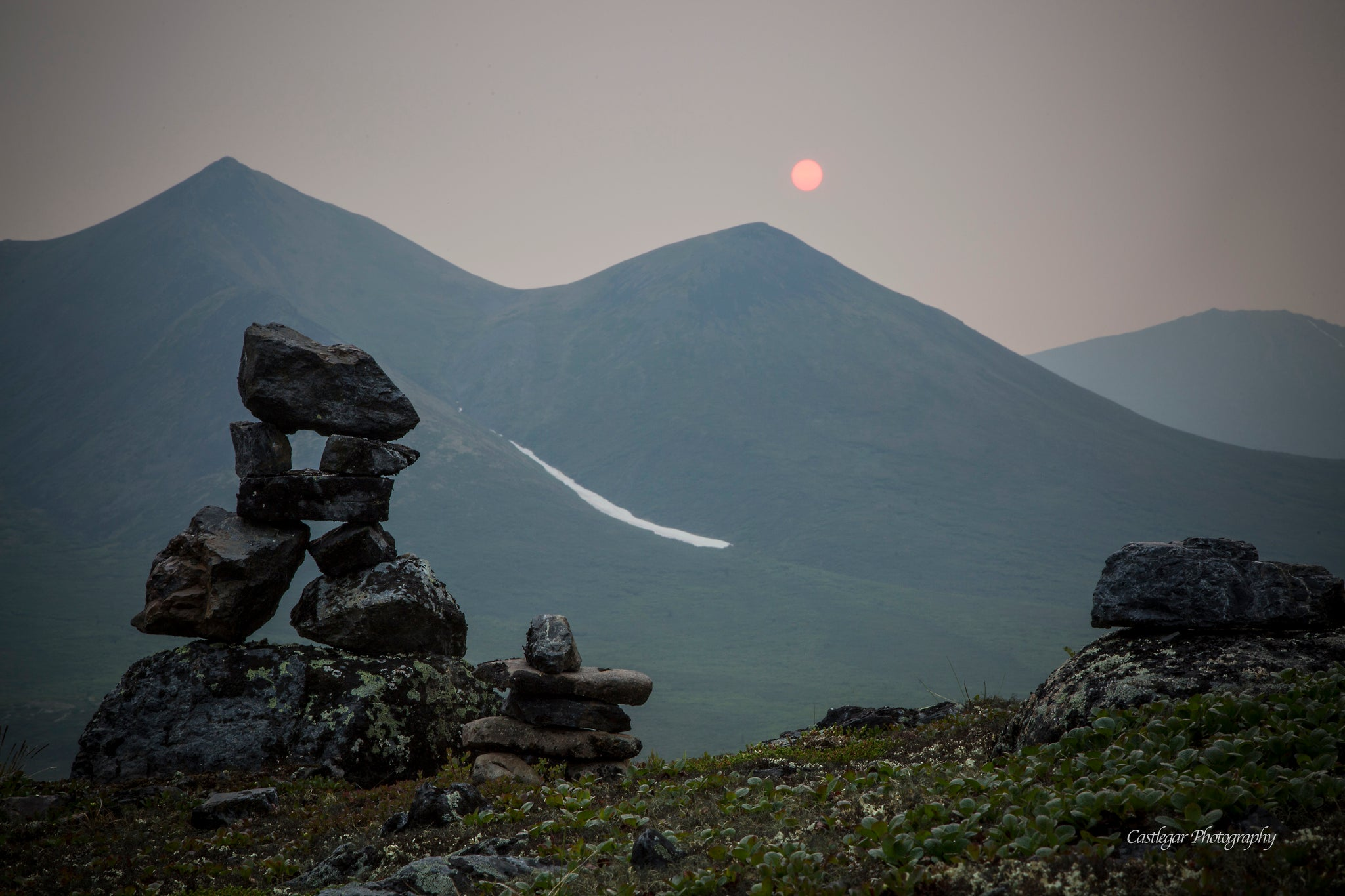 Inuksuk in Tombstone Territorial Park, North Yukon