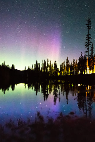Northern Lights Reflecting in Bridal Lake