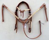 Rawhide Western Tack Set - Headstall & Breast Collar